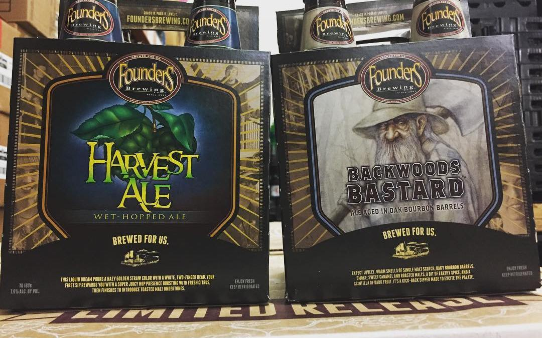 @foundersbrewing Harvest Ale and Backwoods Bastard are now in stock at our Perkins Rd location!…