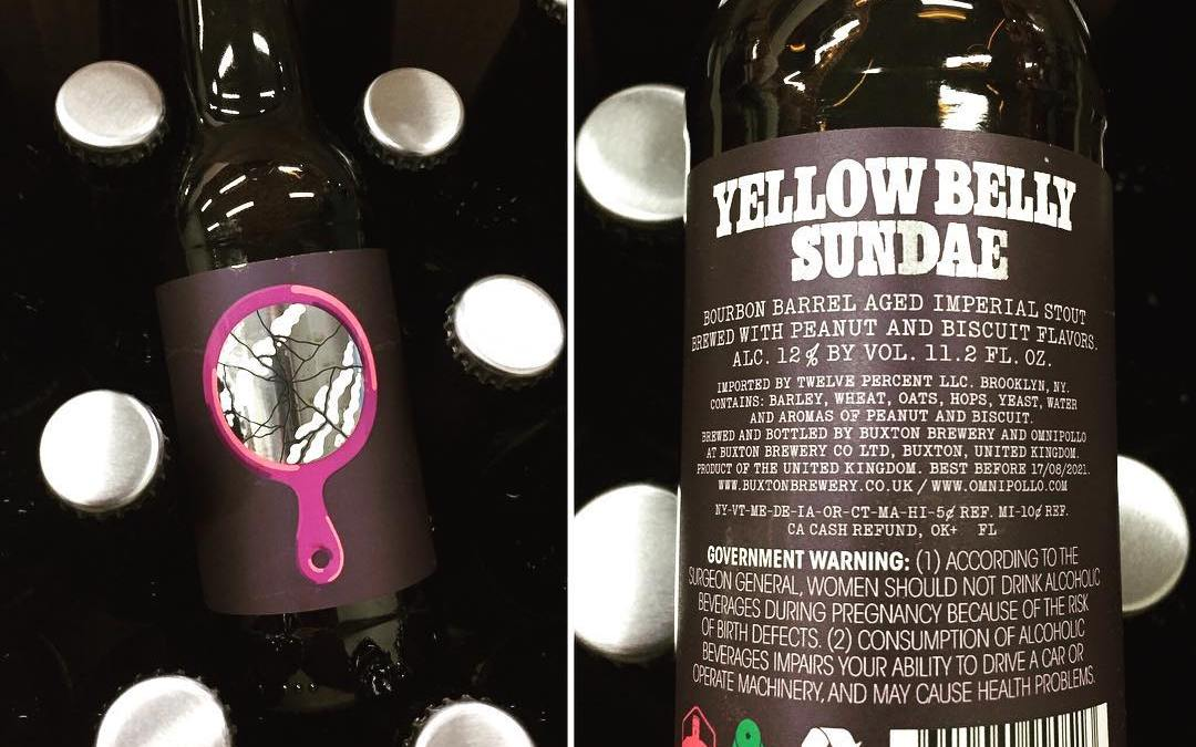 @omnipollo collaboration with @buxtonbrewery Yellow Belly Sundae Barrel Aged Imperial Stout with Peanut and Biscuit…