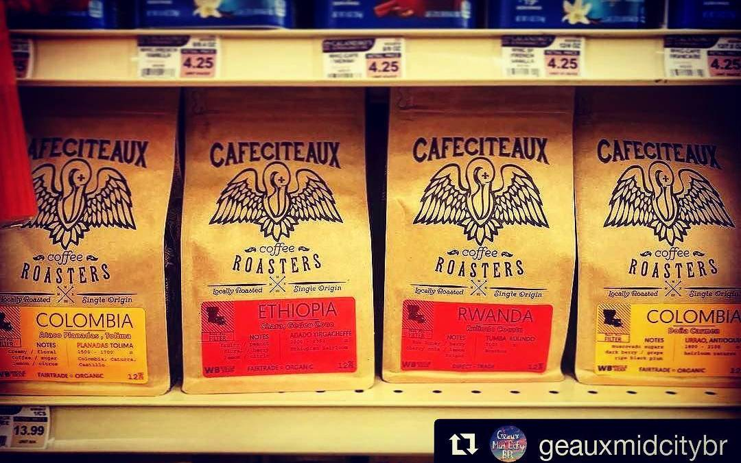 #localroast & #localcaffeine FTW! ☕☕☕???????????? #Repost @geauxmidcitybr ・・・ ☕️☕️☕️ Stop by @calandrosmkt on Government St….