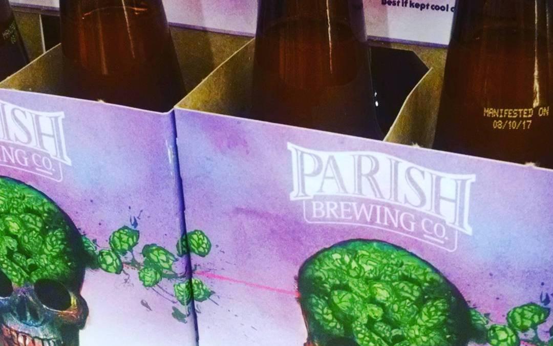 Hops have arrived @calandrosmkt on Perkins. Bottled 8/10/17 @parishbrewingco #gitm #beer #freshhops #freshies #summerofghost