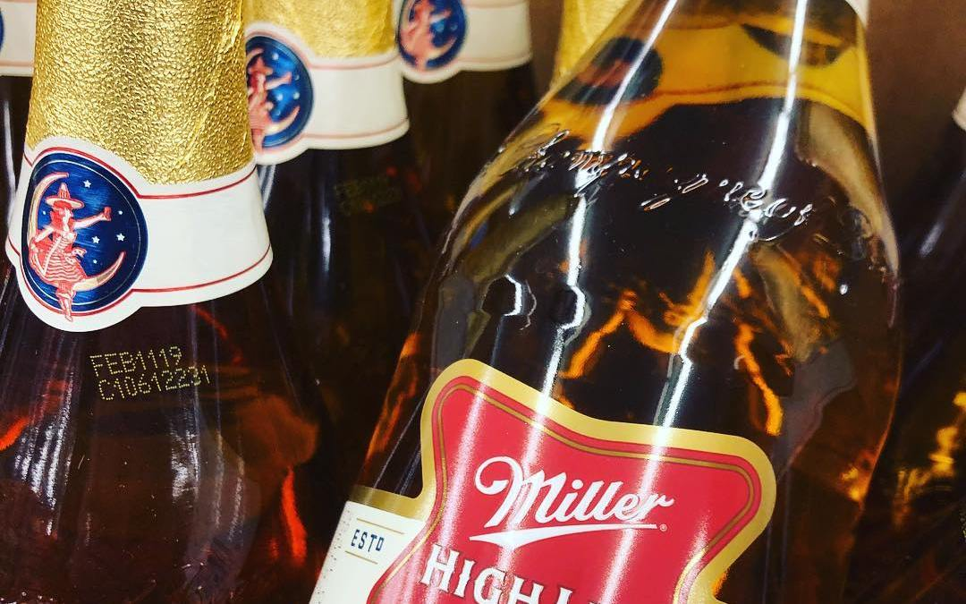 Miller High Life Champagne bottles are now available at our #midcitybr location! #champagneofbeers #beer #nota40