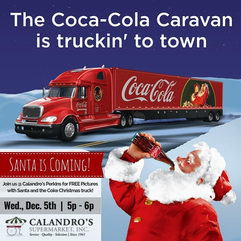 Santa is coming! Santa is coming! Join us at Calandro's Perkins this Wednesday (12/5) @…