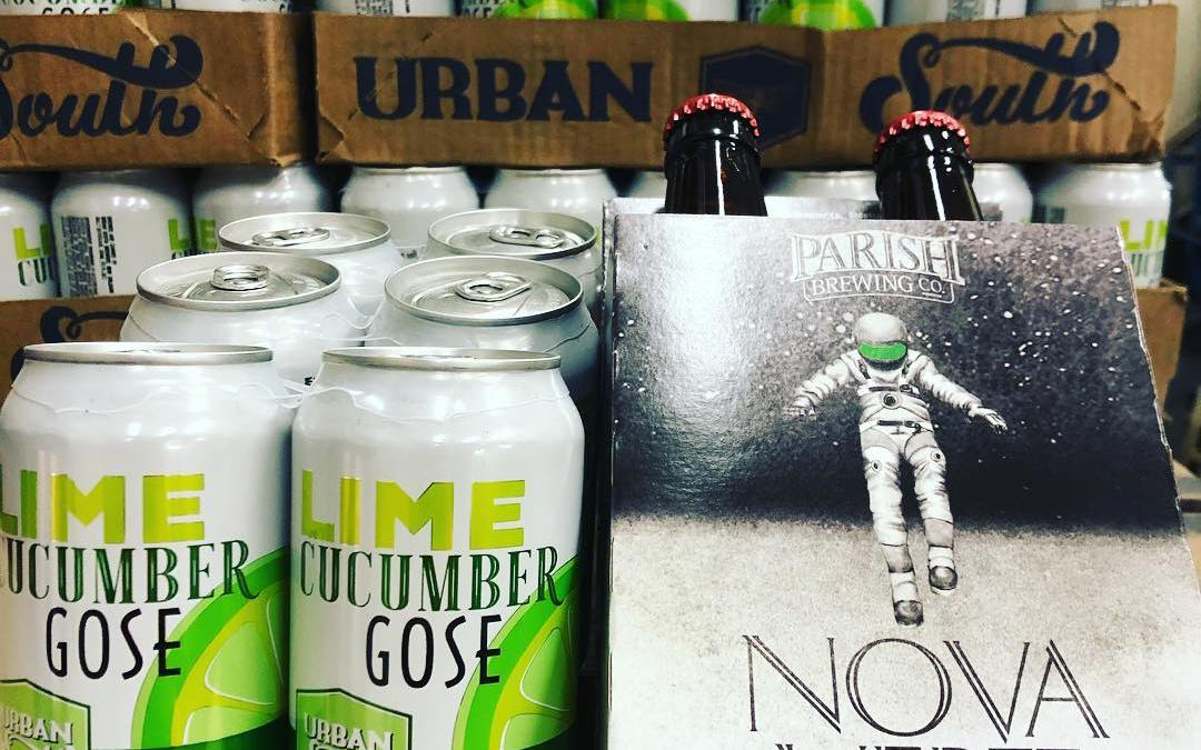 @parishbrewingco Nova Vert and @urbansouthbeer Cucumber Lime Gose have returned to our Perkins Rd location!…