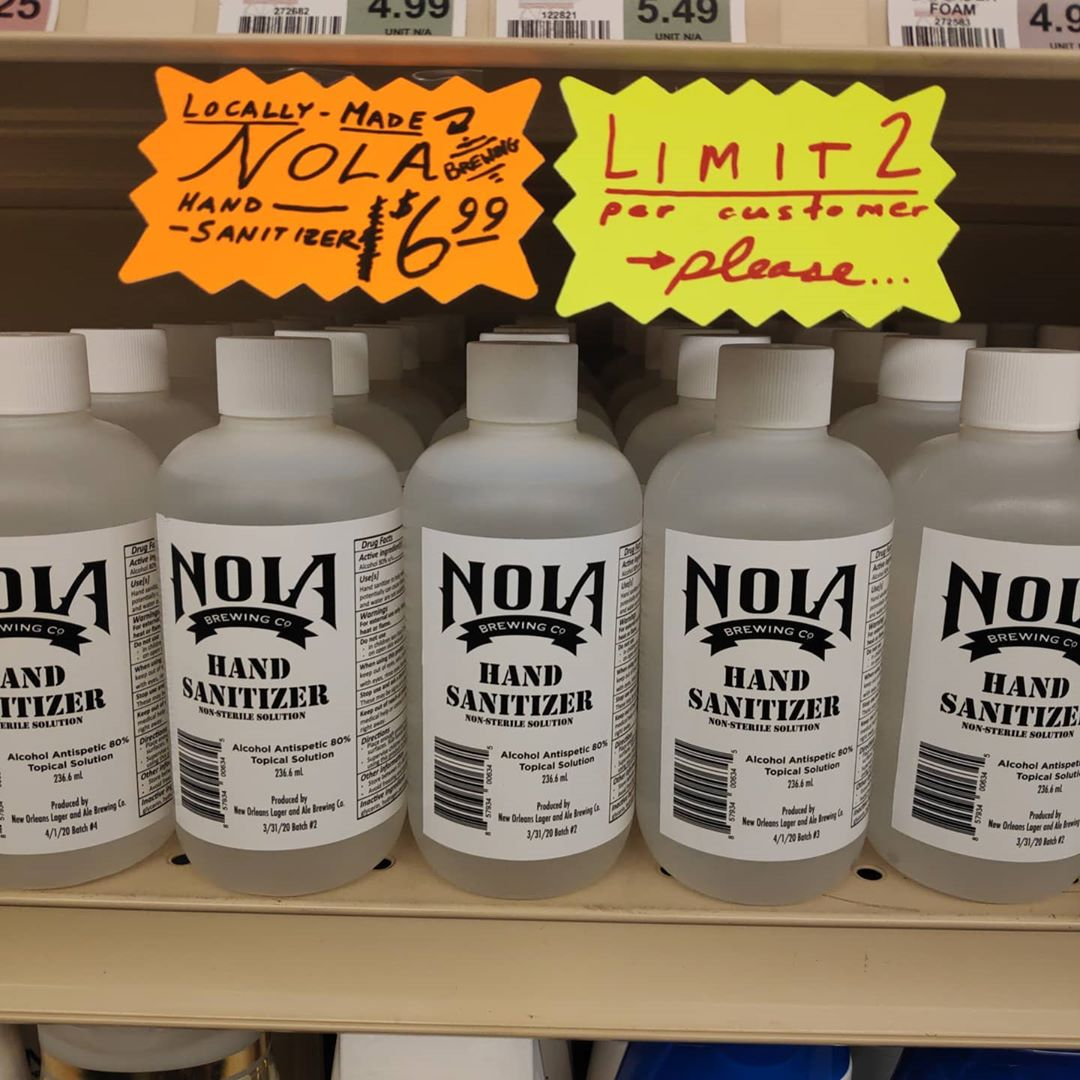 @nolabrewing to the rescue now at Calandro's Mid-City as well. Our first hand sanitizer on…