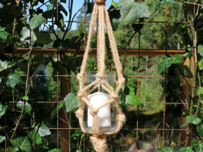Jute Candle holder
