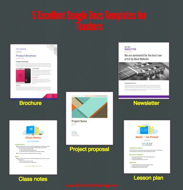 5 Excellent Google Docs Templates for Teachers  Educational Technology and Mobile Learning
