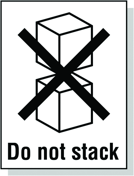 Signs & Labels 100x75mm Do not stack Pictoral Marking