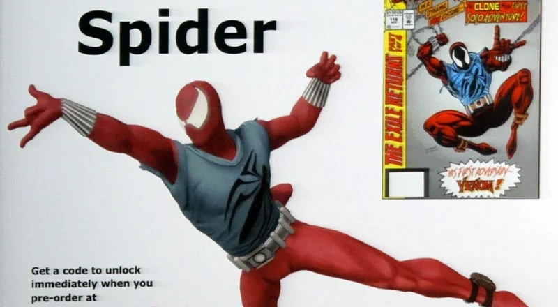 Spider-Man Shattered Dimensions - Scarlet Spider Capa