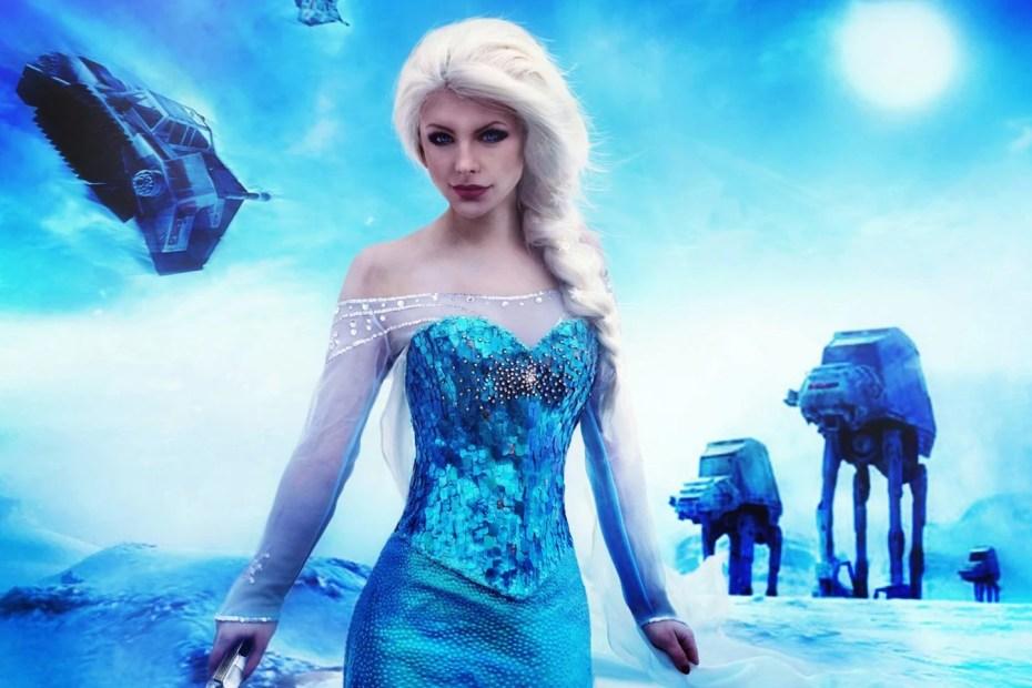 Elsa Cosplay - Frozen - Sabre de Luz