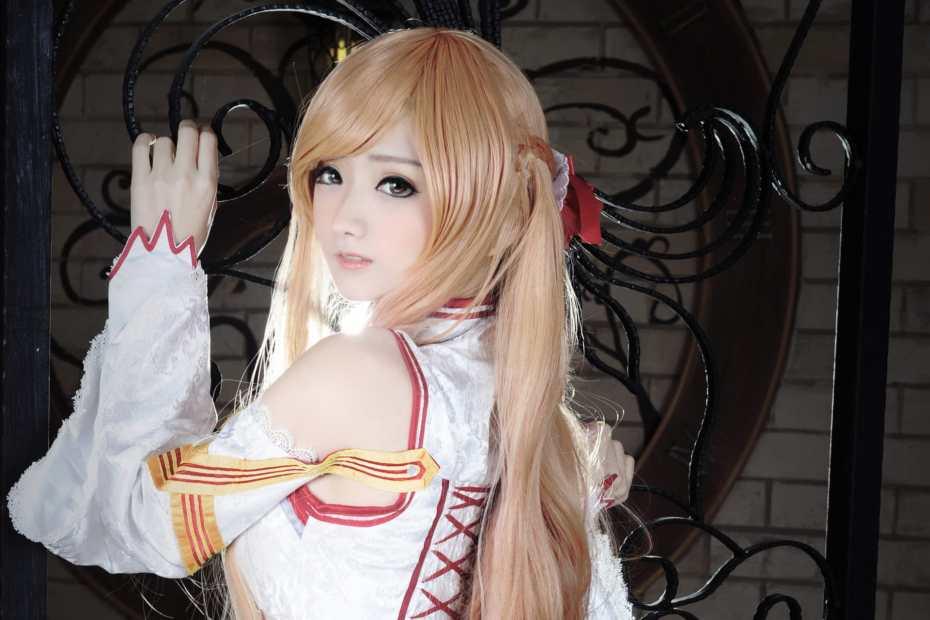 Cosplay Fofo e kawaii da Asuna - Sword Art Online - With White Dress - Vestido Branco 01