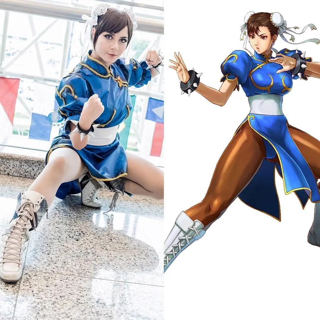 Cosplay incrível da Chun-Li com uniforme original - Street Fighter - Capcom