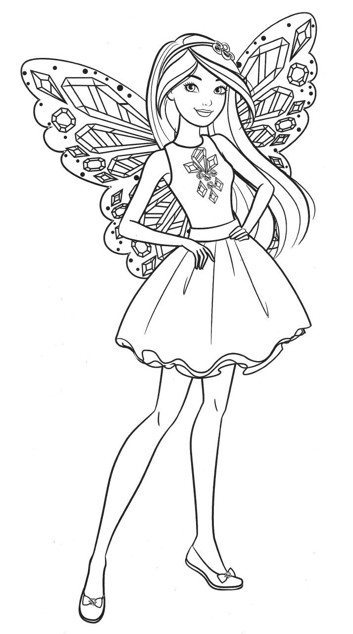 Barbie Fada - Lindo desenho pra colorir, pintar e imprimir - Atividade para crianças - 04
