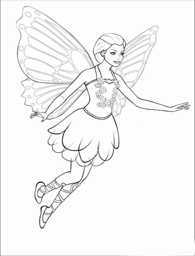 Barbie Fada - Lindo desenho pra colorir, pintar e imprimir - Atividade para crianças - 19