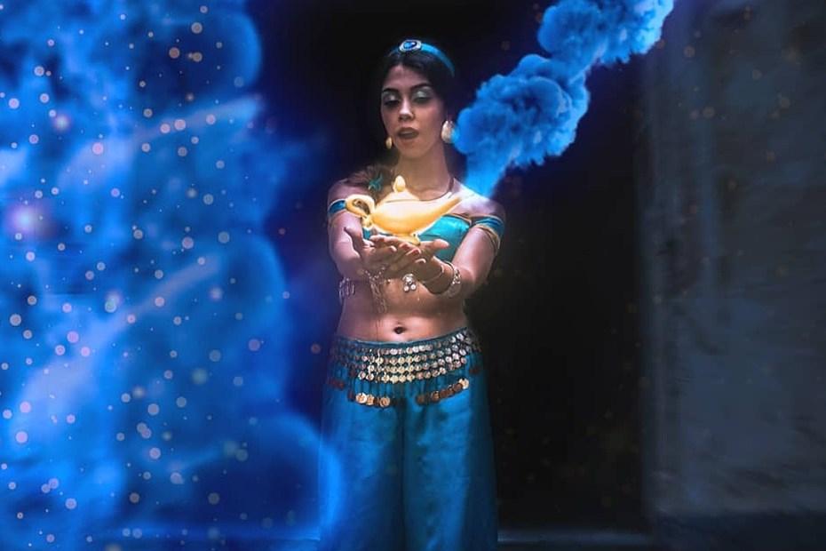 Arte Digital Cosplay da Jasmine, de Aladdin - Capa