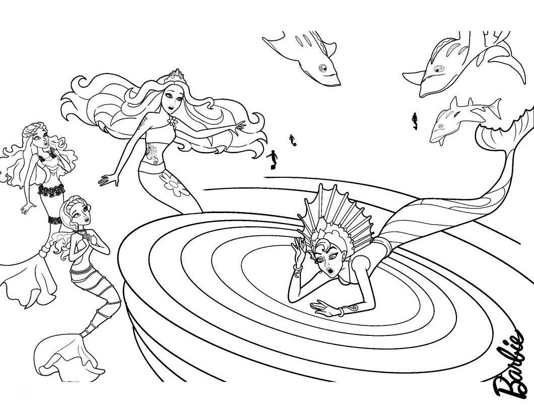Barbie Sereia - Desenho pra pintar, colorir e imprimir - Mermaid 19