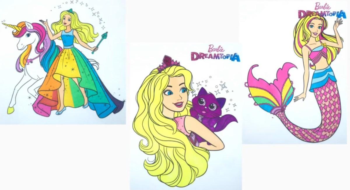 Barbie Sereia Dreamtopia - Versão colorida - Desenho para colorir e imprimir 4