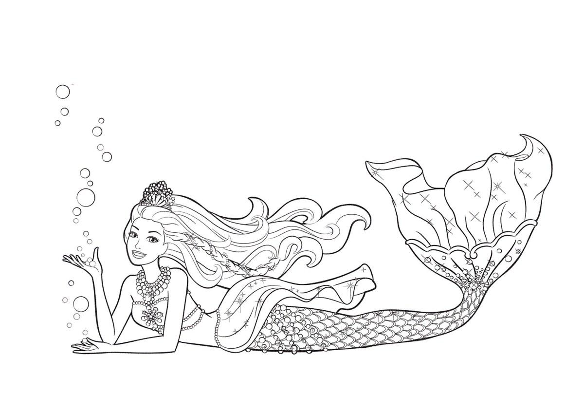 Barbie e a Sereia das Perolas, desenhos para colorir e imprimir - 10