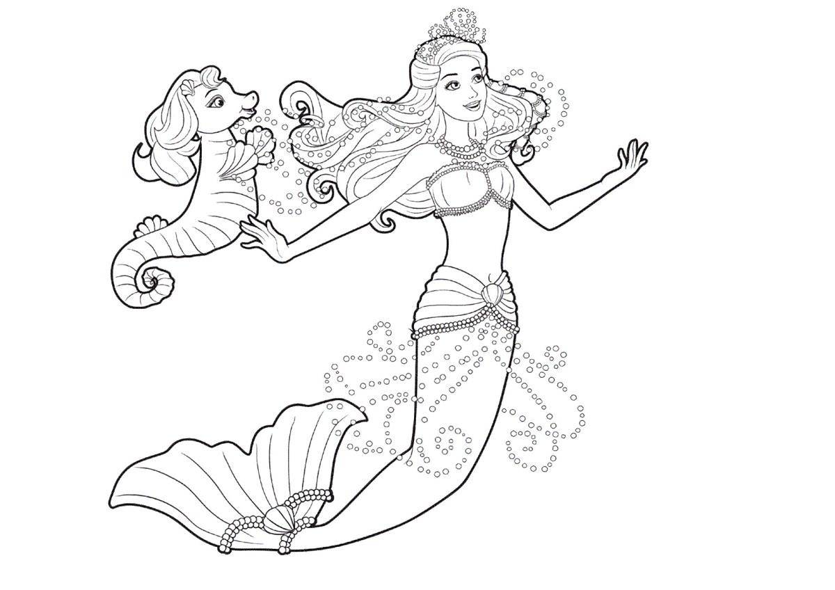 Barbie e a Sereia das Perolas, desenhos para colorir e imprimir - 11