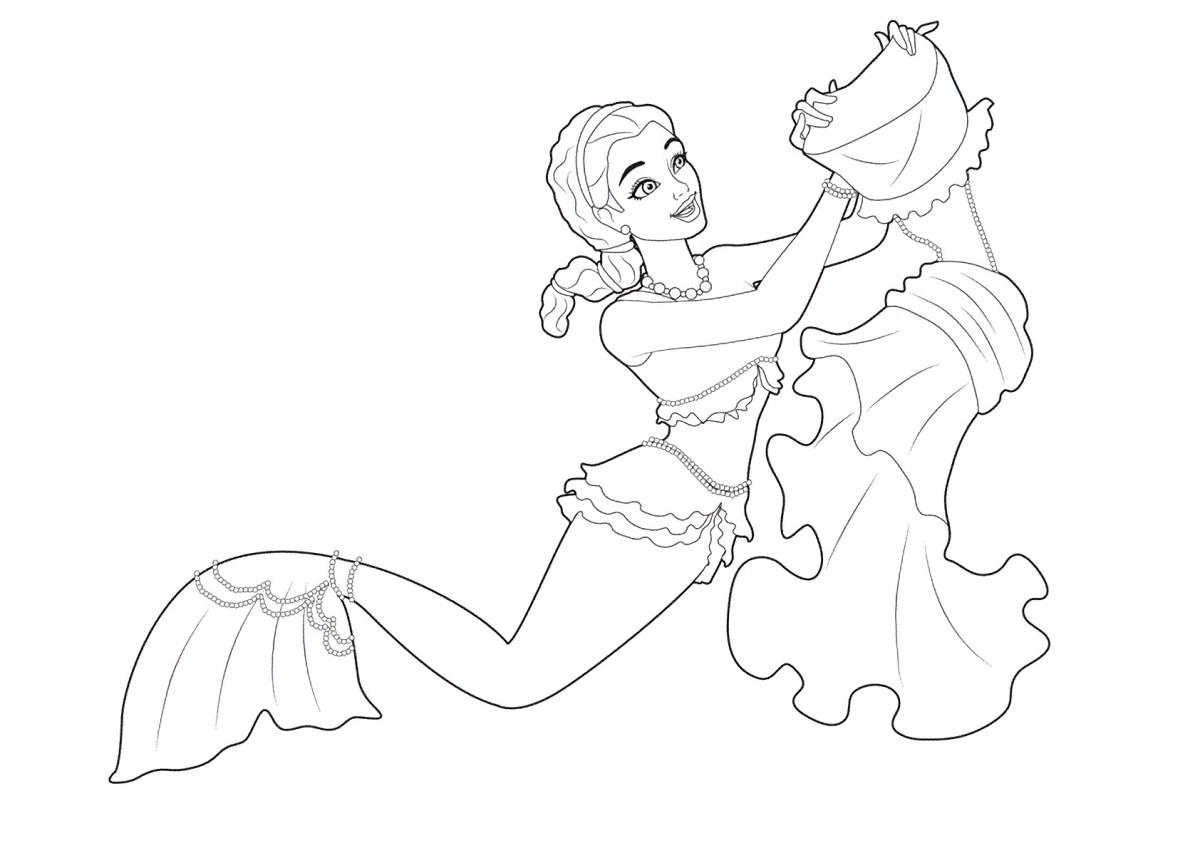 Barbie e a Sereia das Perolas, desenhos para colorir e imprimir - 13