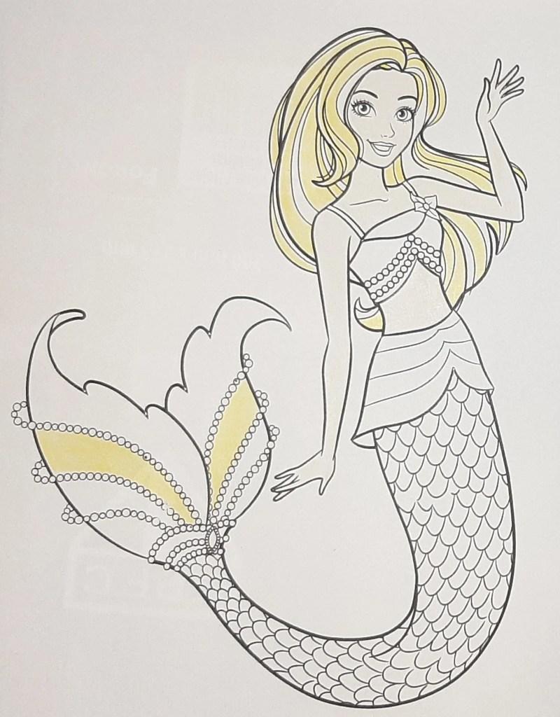 Boneca Barbie Dreamtopia Sereia - Mermaid - Colorindo um lindo desenho da Barbie - Passo a passo com lápis de cor 01