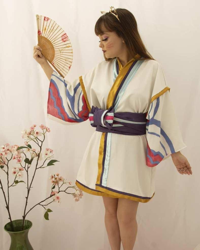 Kimono da Ahri Spirit Blossom - League of Legends - Cosmaker e Cosplay 05