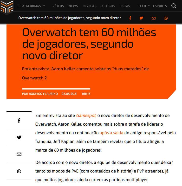 Matéria de Overwatch no The Enemy