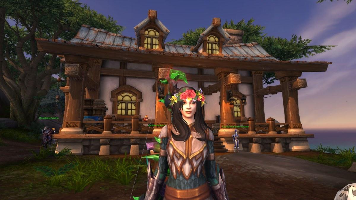 World of Warcraft - Coroa de Flores na personagem principal - Transmog permanente 02
