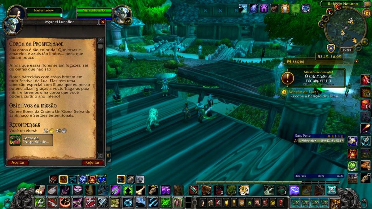 World of Warcraft - Pegando a missão da Coroa da Prosperidade permanente - Transmog