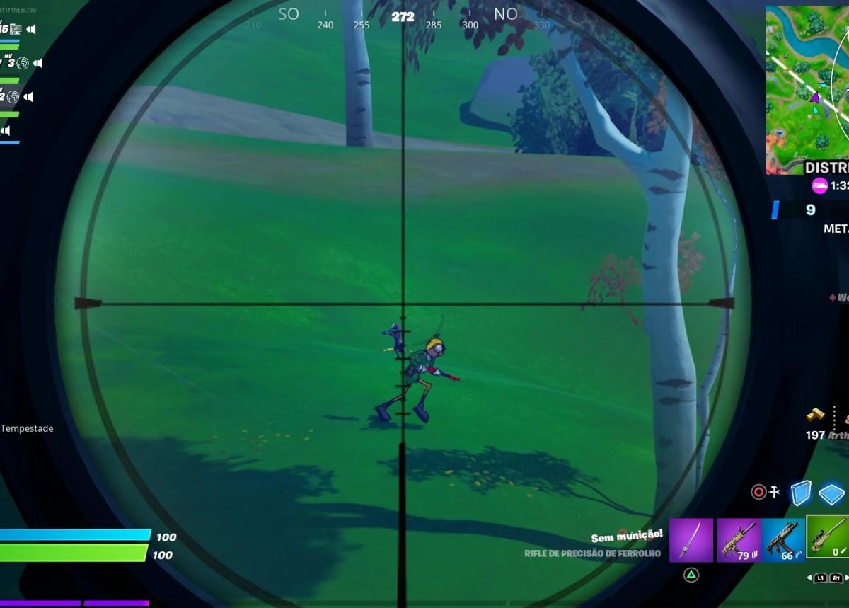 Fortnite - Causando 250 de dano com rifle de precisão - Acerto na cabeça 02
