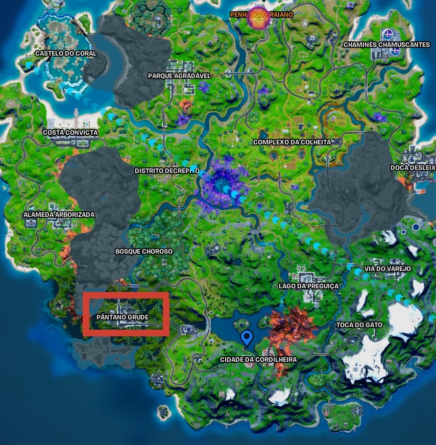Fortnite - Mapa dao Pântano Grude 01