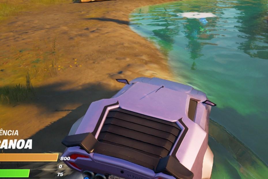 Guia de Fortnite - Dirija um veículo para dentro da água - Capa