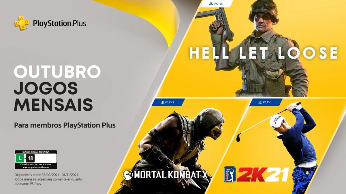 Jogos de outubro da PlayStation Plus