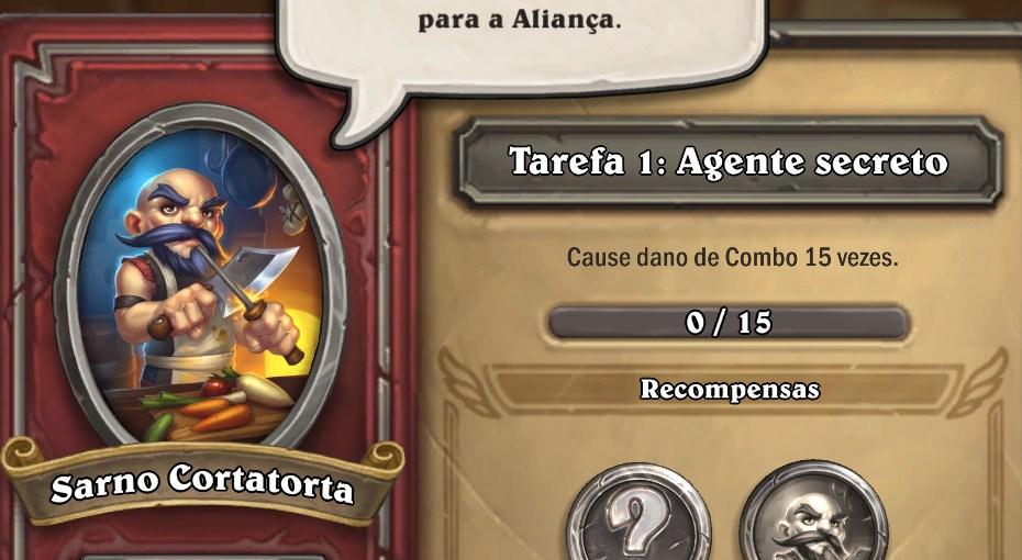 Hearthstone Mercenários - Tarefa Agente Secreto
