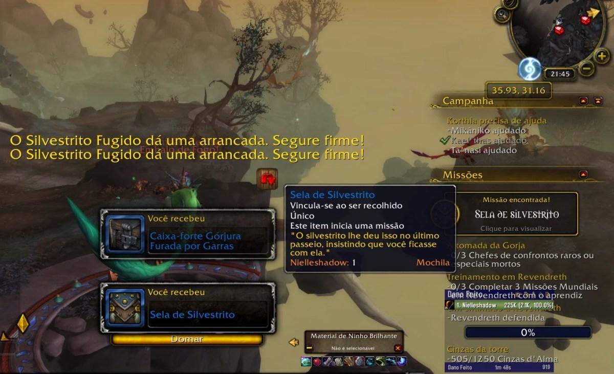World of Warcraft Shadowlands - Missão do Silvestrito Fugido 04