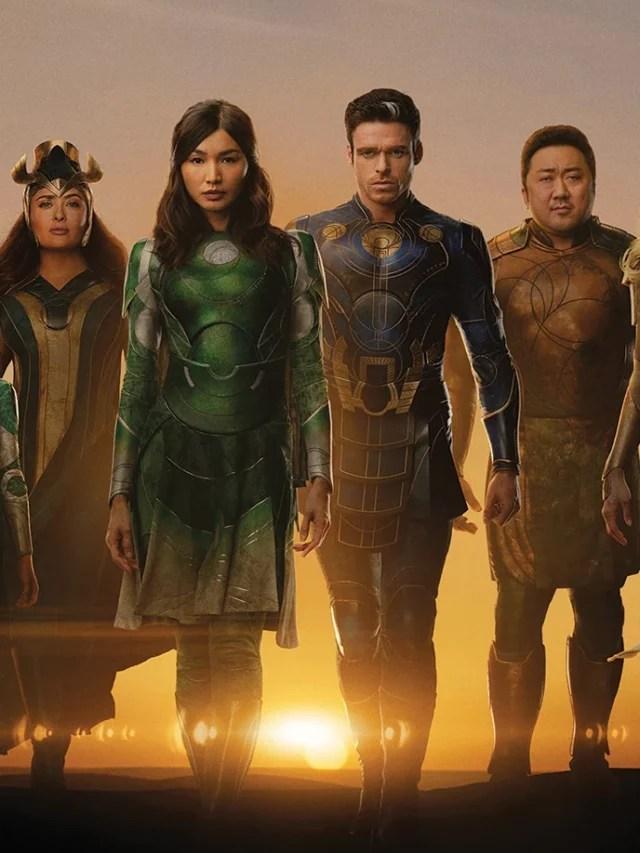 Novos pôsteres dos Eternos, novo filme da Marvel