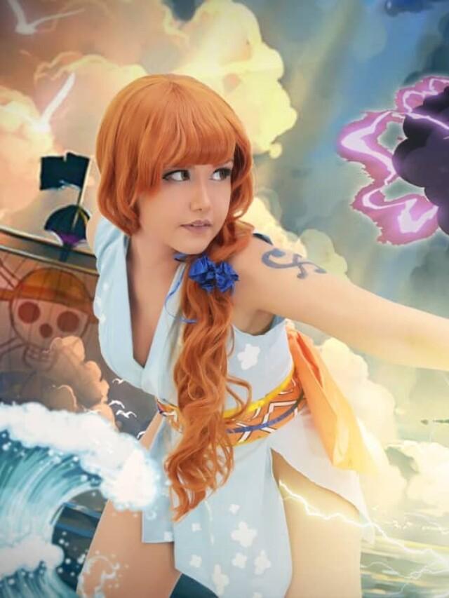 One Piece: Nami ganha um belo cosplay do arco Wano