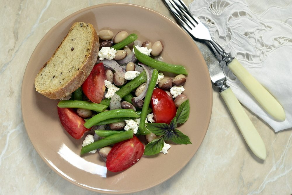 Salade de haricots au yogourt