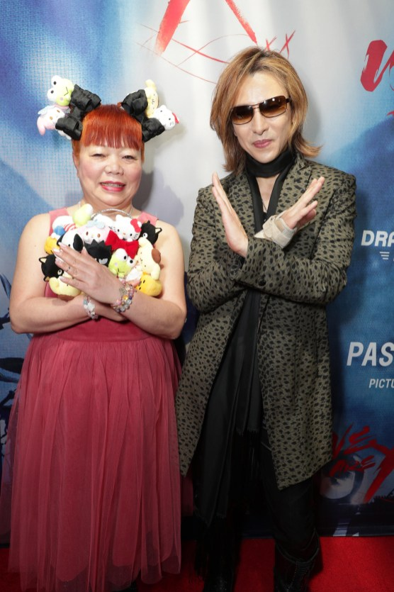 "Yuko Yamaguchi and Yoshiki seen at The Los Angeles Premiere ""We Are X"" on Monday, October 03, 2016, in Los Angeles, CA. (Photo by Eric Charbonneau/Invision for Drafthouse Films/AP Images)"