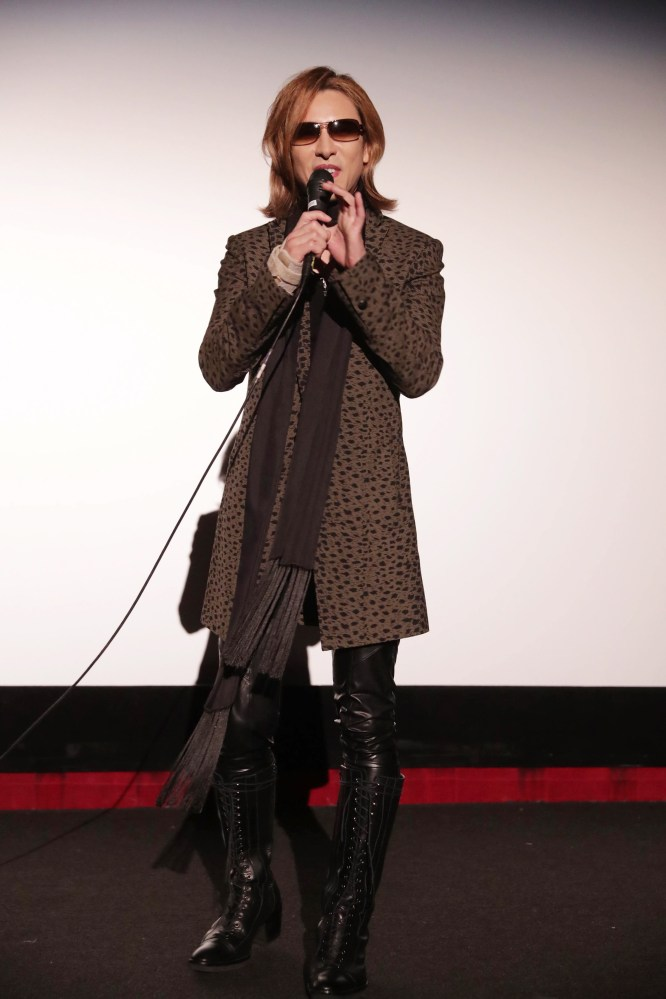 "Yoshiki seen at The Los Angeles Premiere ""We Are X"" on Monday, October 03, 2016, in Los Angeles, CA. (Photo by Eric Charbonneau/Invision for Drafthouse Films/AP Images)"