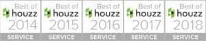 Best of Houzz service award winner five years straight