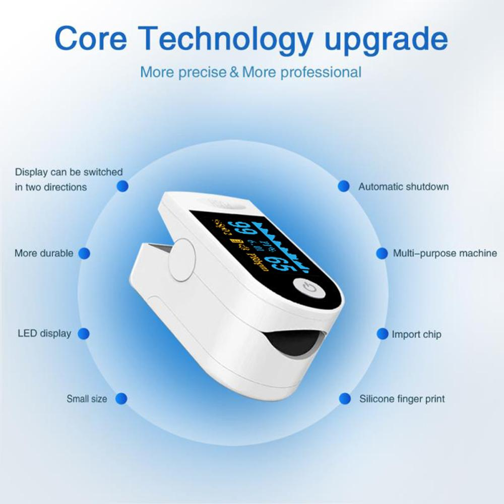 Digital Fingertip Pulse Oximeter Blood Oxygen Saturation Meter Pulse Monitor