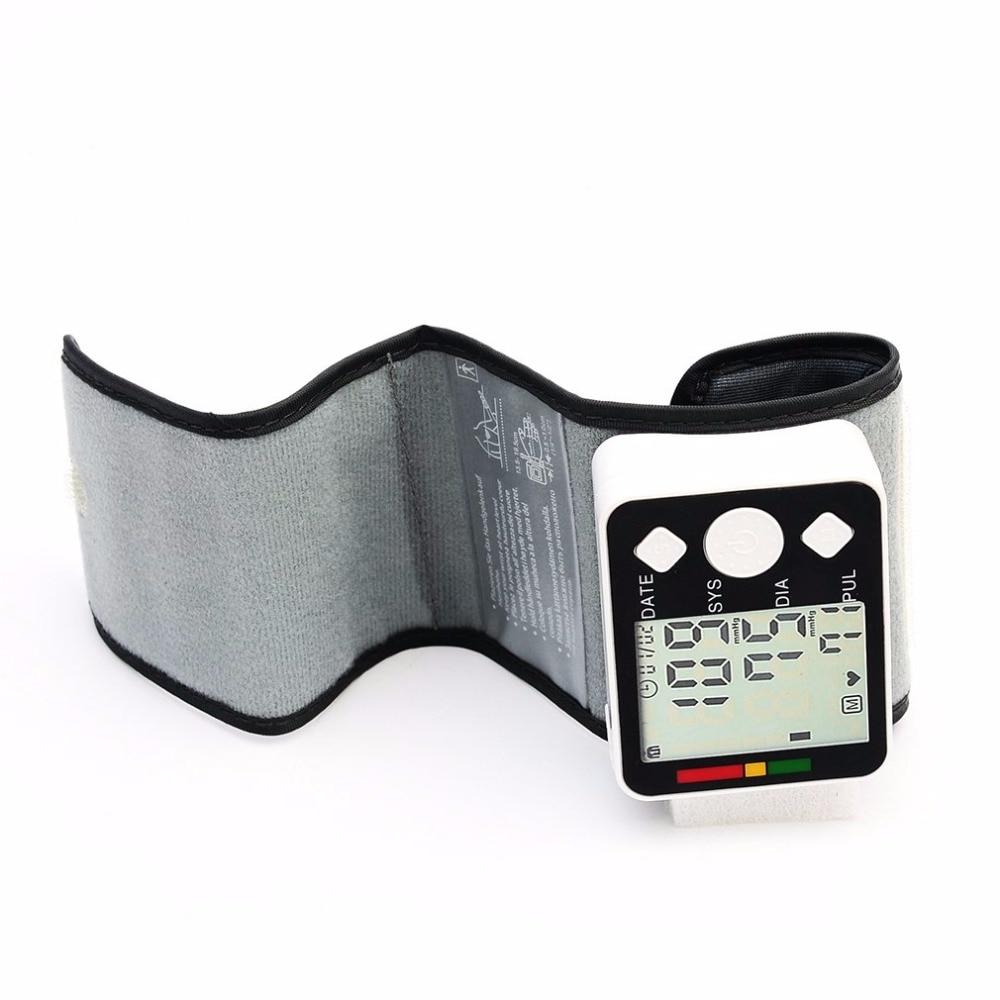 Portable BP628 Wrist LCD Blood Pressure Monitor Meter Sphygmomanometer