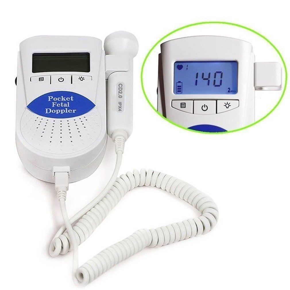 LCD Ultrasonic Detector Fetal Doppler Prenatal Heart Rate Heartbeat Monitor