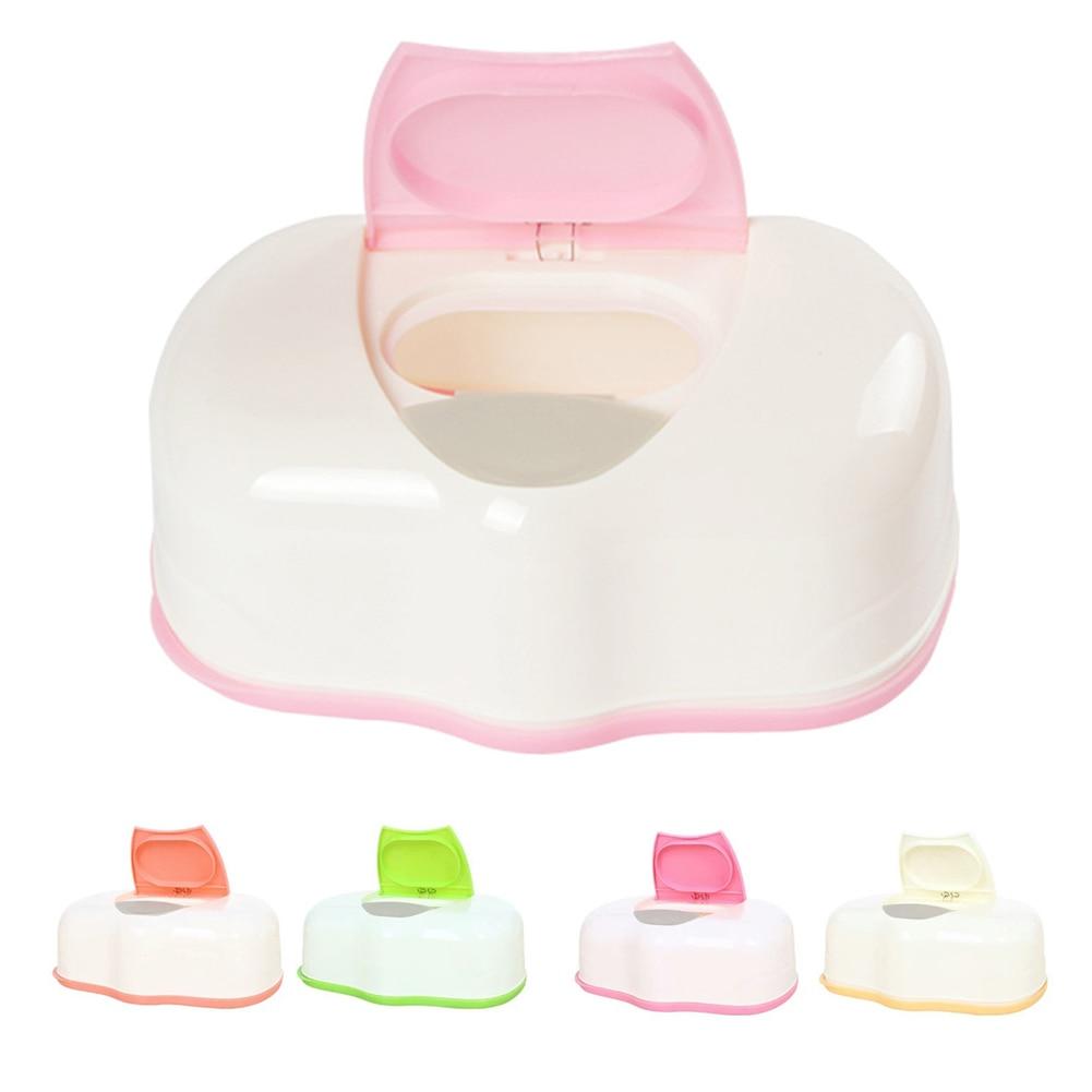 Household Baby Wipes Holder Case Wet Tissue Storage Box