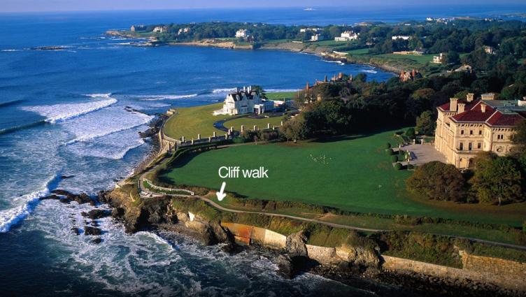 cliff walk in Rhode Island