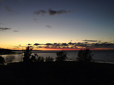 beautiful view of the sunset in petoskey mi