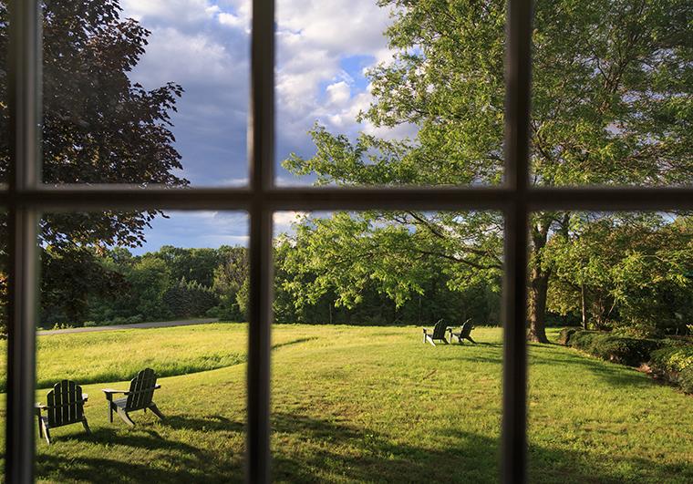 Chesterfield Meadow thru Window
