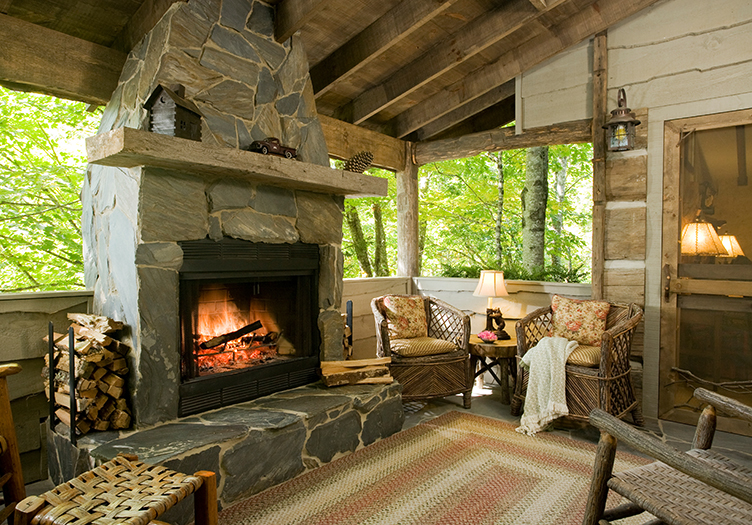 the swag fireplace cozy cabin