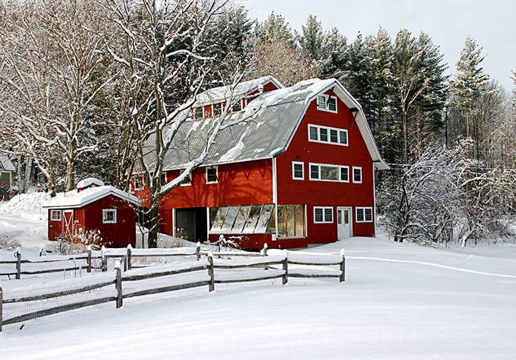 West Hill House Barn and Snow