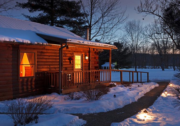 The White Oak Inn Winter Exterior